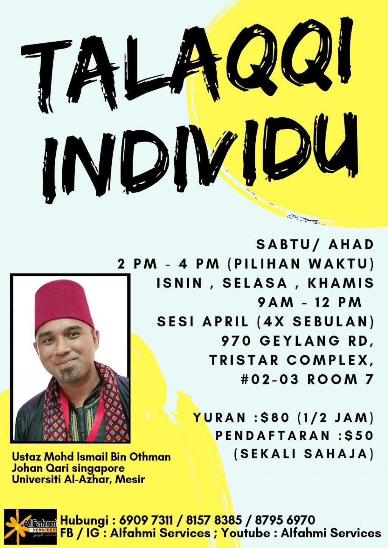 TALAQQI INDIVIDU bersama Ustaz Ismail Bekas Qari Singapura 2003