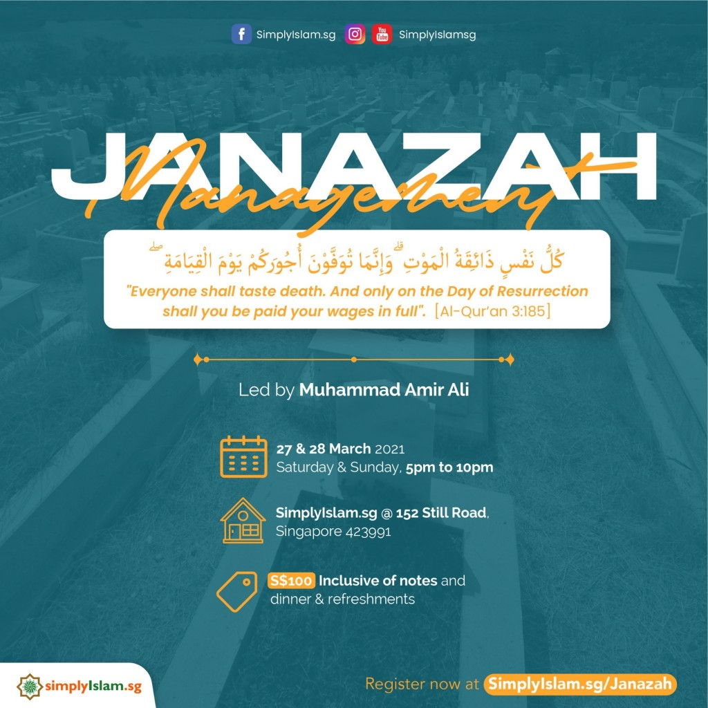 Janazah Management Course (March 2021) @ Still Road (2-Days)