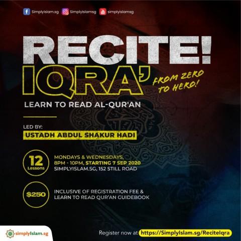 Recite! Iqra'