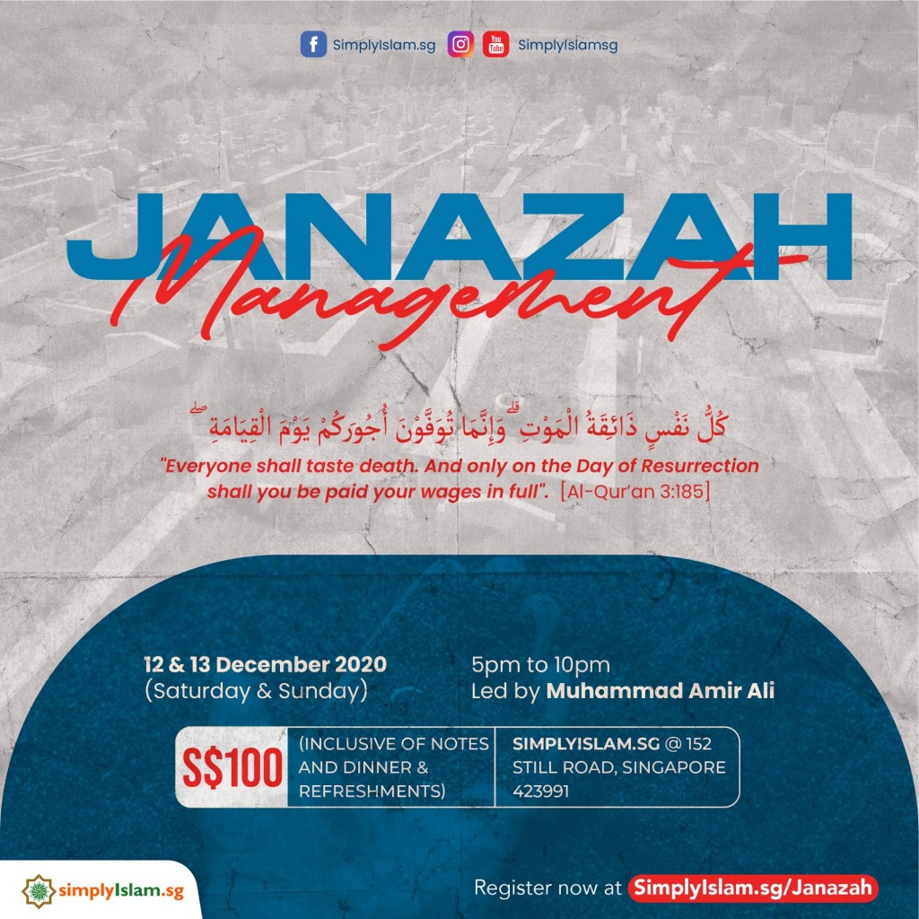 Janazah Management Course (December 2020) @ Still Road (2-Days)