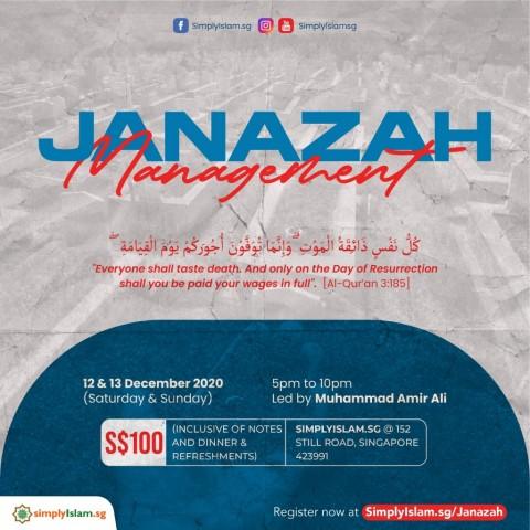 Janazah Management Course (December 2020) @ Still Road (2-Days)
