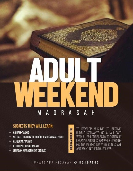 Seeking Allah's Blessing - Madrasah For Adults