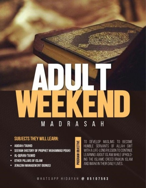 Seeking Allah's Blessing - Madrasah For Adults