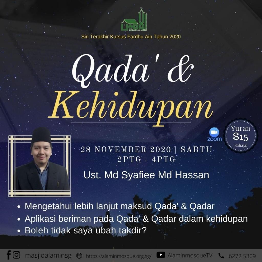 Kursus Qada & Kehidupan