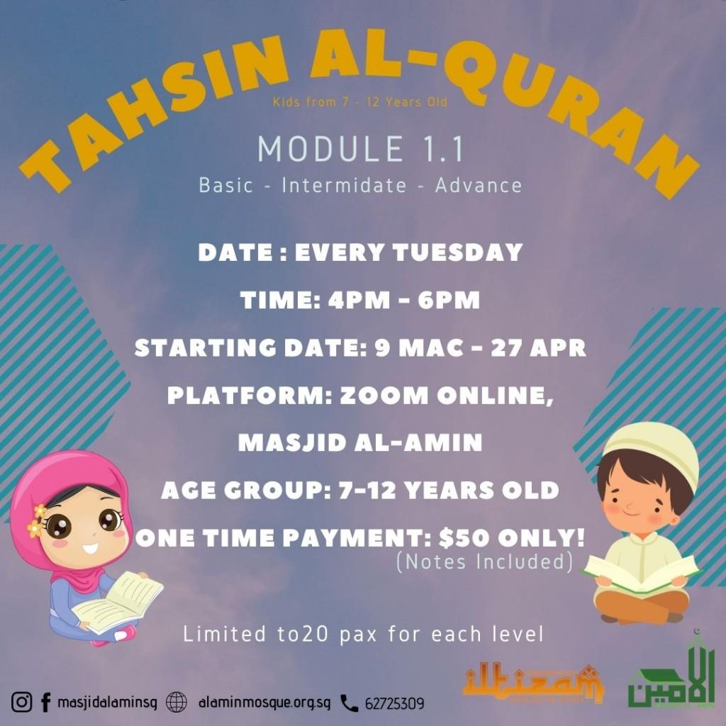 Tahsin Al-Quran Module 1.1
