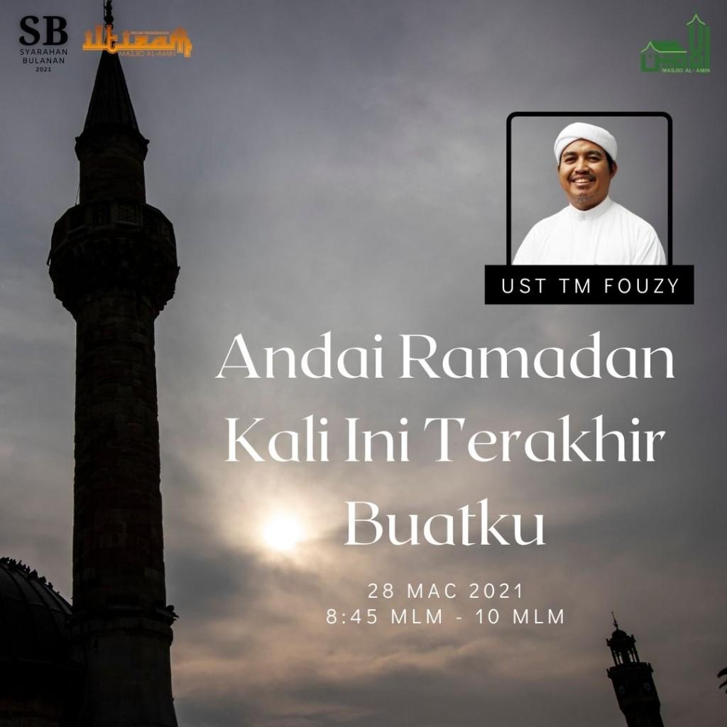 SB : Andai Ramadan Kali Ini Terakhir Buatku