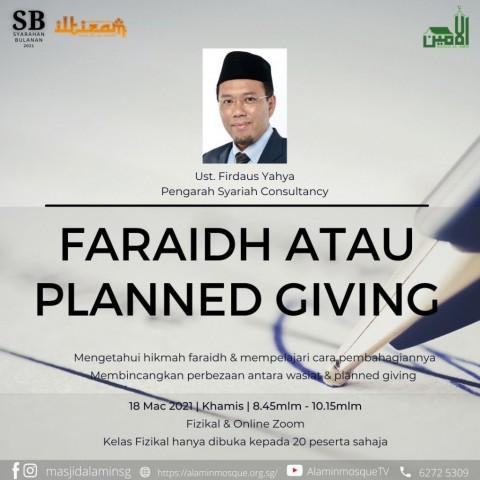 Kursus: Faraidh atau Planned Giving