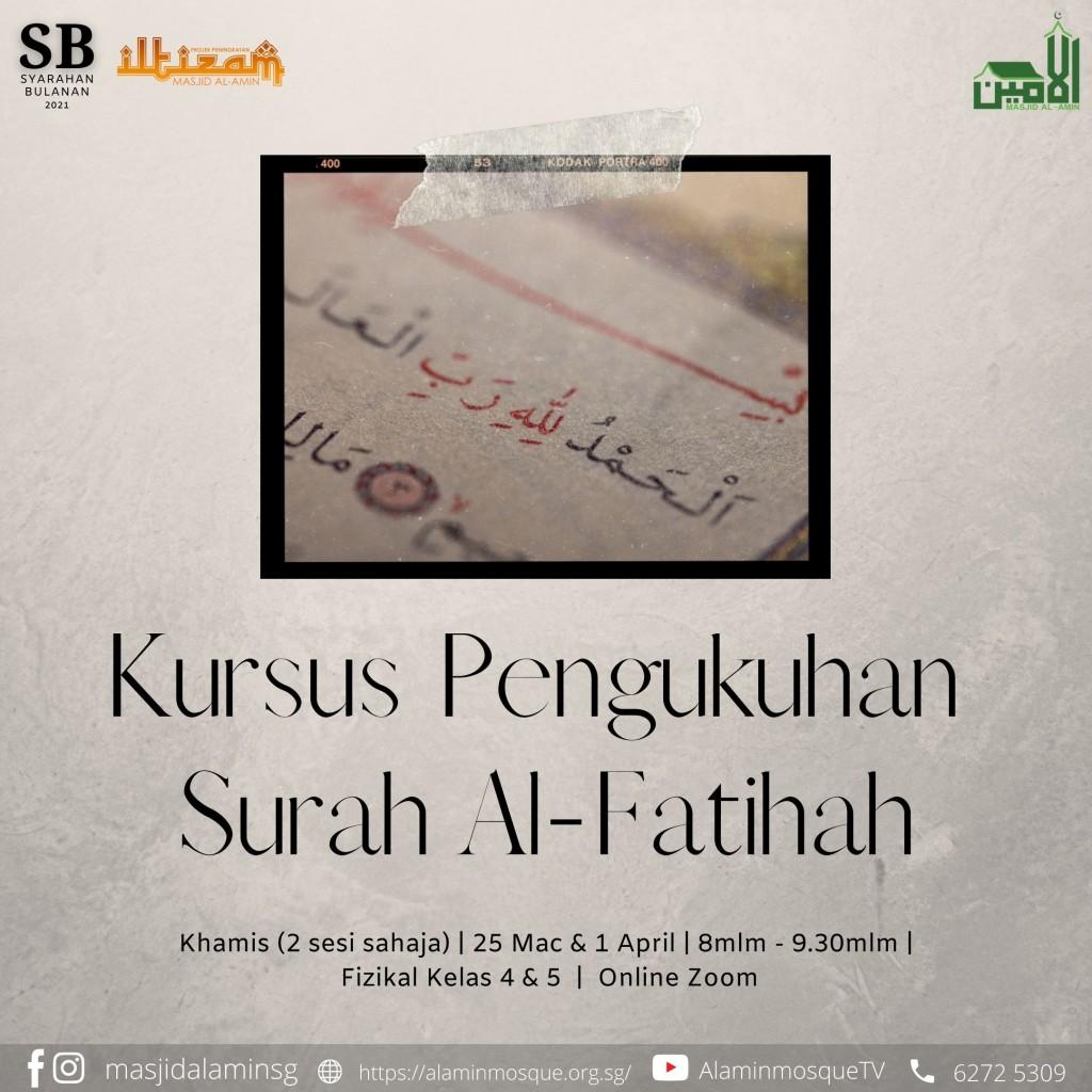 Kursus Pengukuhan Surah Al-Fatihah