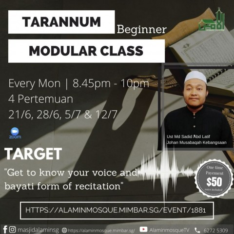 Tarannum Modular Class: Beginner