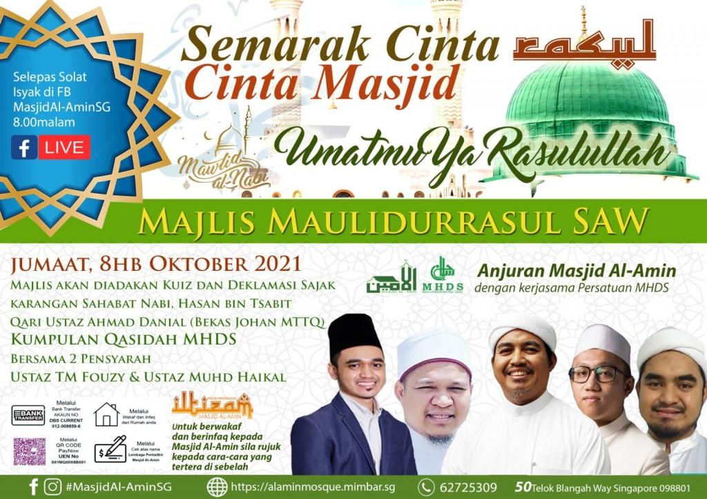Majlis Maulidurrasul Bersama Ust TM Fouzy & Kumpulan MHDS