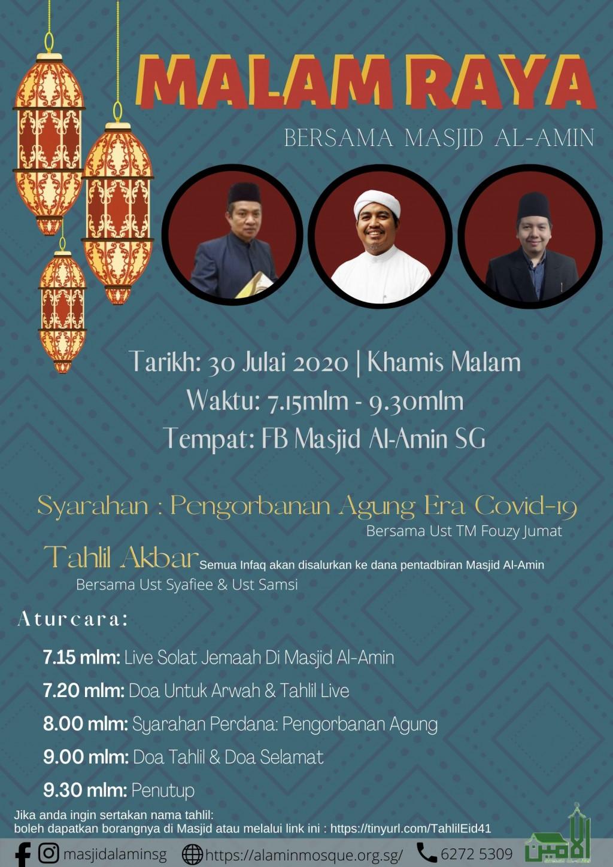 Malam Raya Bersama Masjid Al-Amin