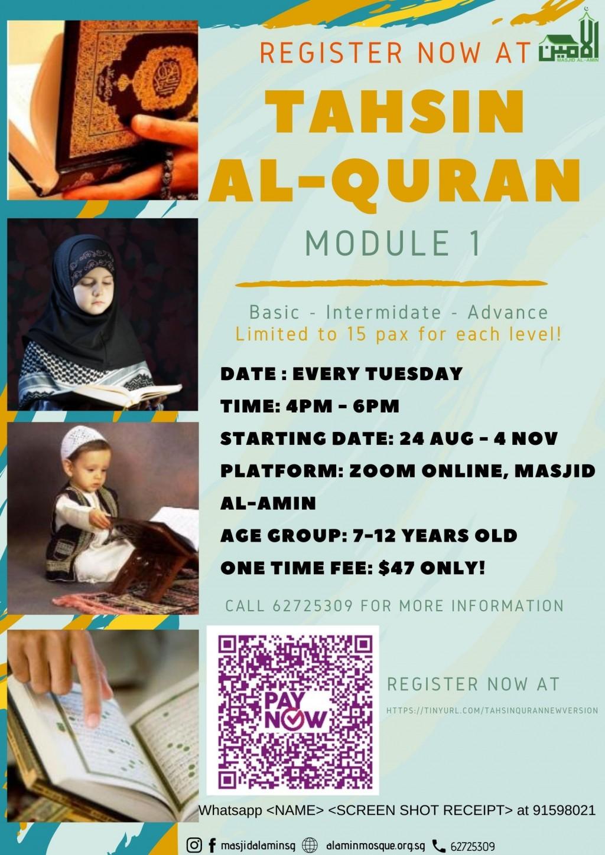 Tahsin Al-Quran Module 1