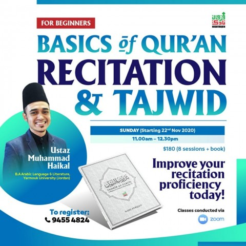 BASICS OF QUR'AN RECITATION & TAJWID FOR BEGINNERS [4th Intake]