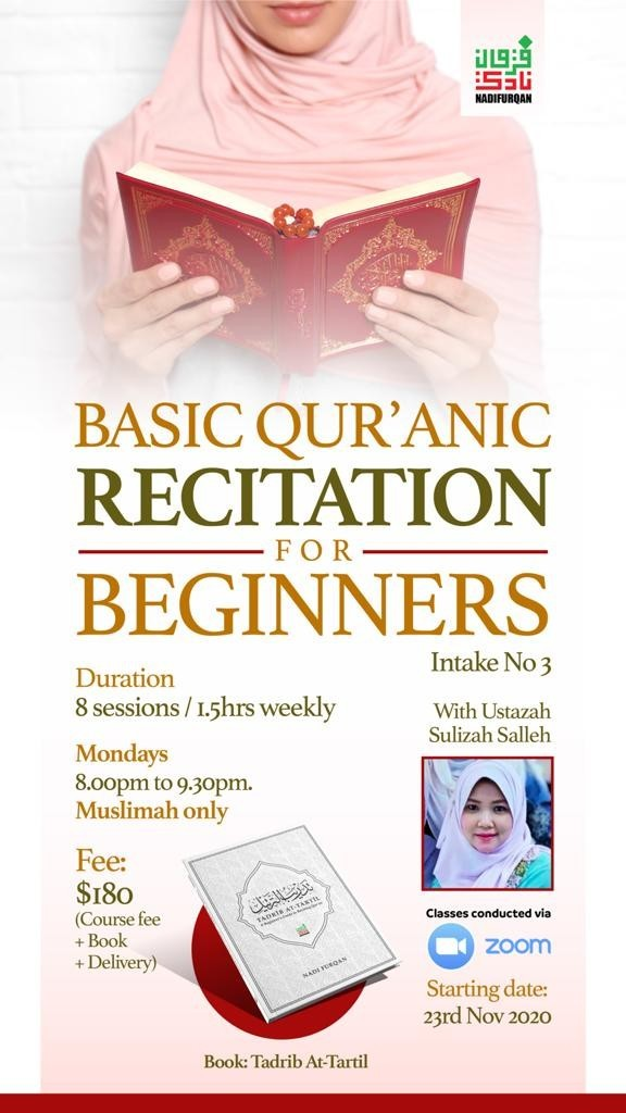 Basic Qur'an Recitation for Beginners (Muslimah Only)