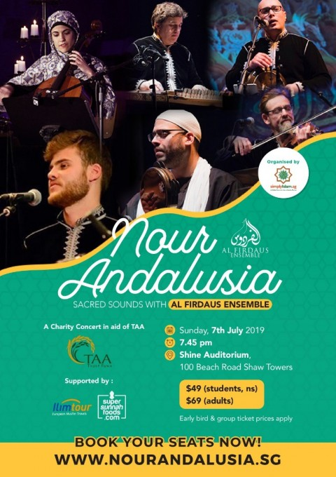 Nour Andalusia: Sacred Sounds with Al Firdaus Ensemble - A Charity Concert in aid of TAA Trust Fund