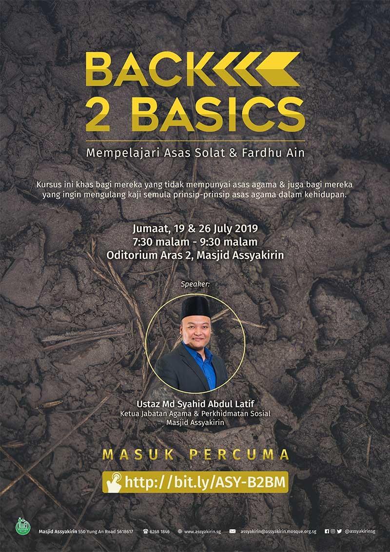 Bengkel BACK 2 BASICS - Mempelajari Asas Solat & Fardhu Ain