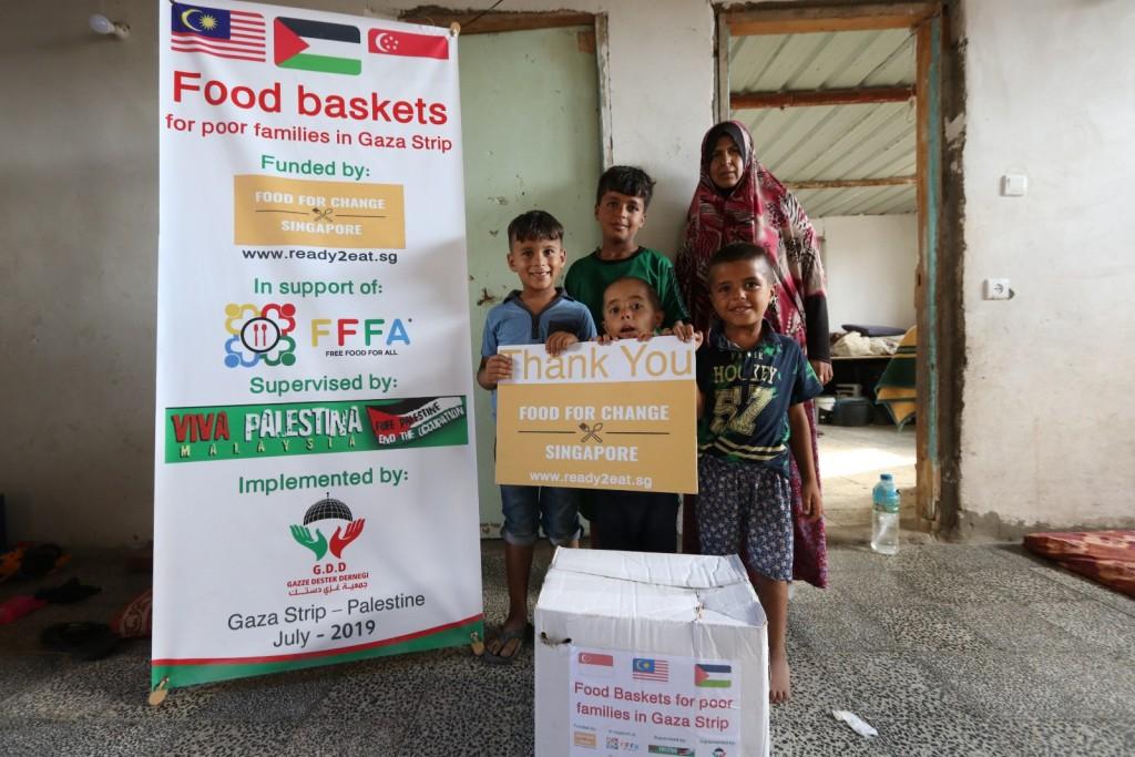 Gaza Food Aid Hampers