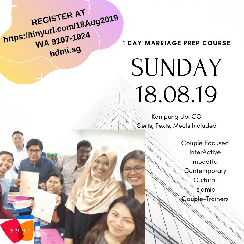 Sun 18.08.2019, One Day Marriage Preparation Course ~ ROMM