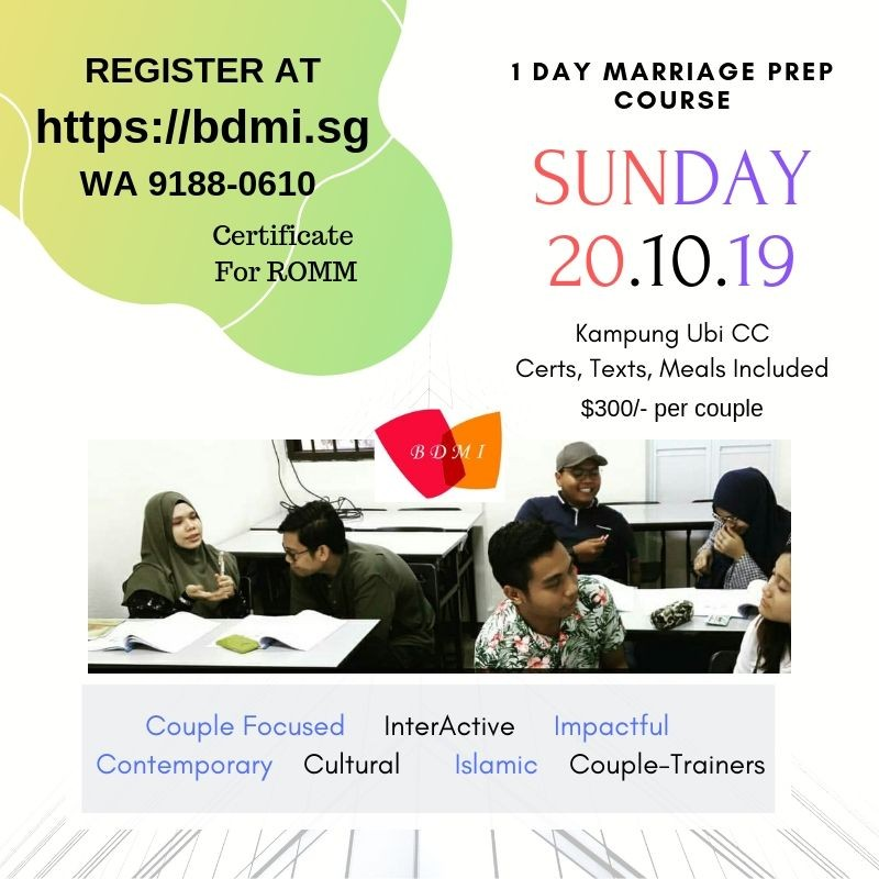 For ROMM ~ One Day Marriage Preparation Course