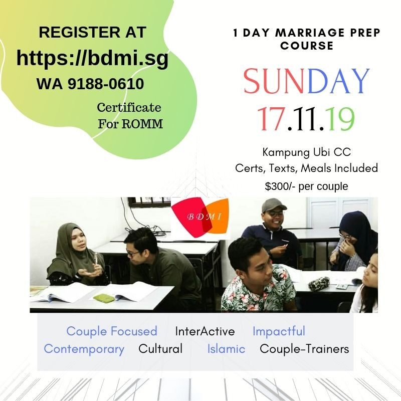 One Day Marriage Preparation Course ~ ROMM