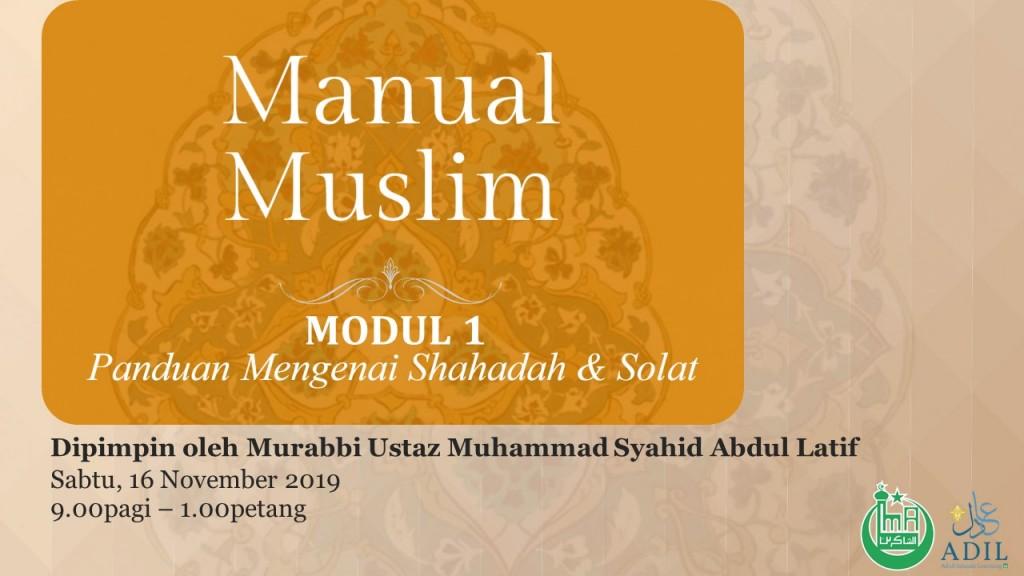 ADIL - Manual Muslim Modul 1