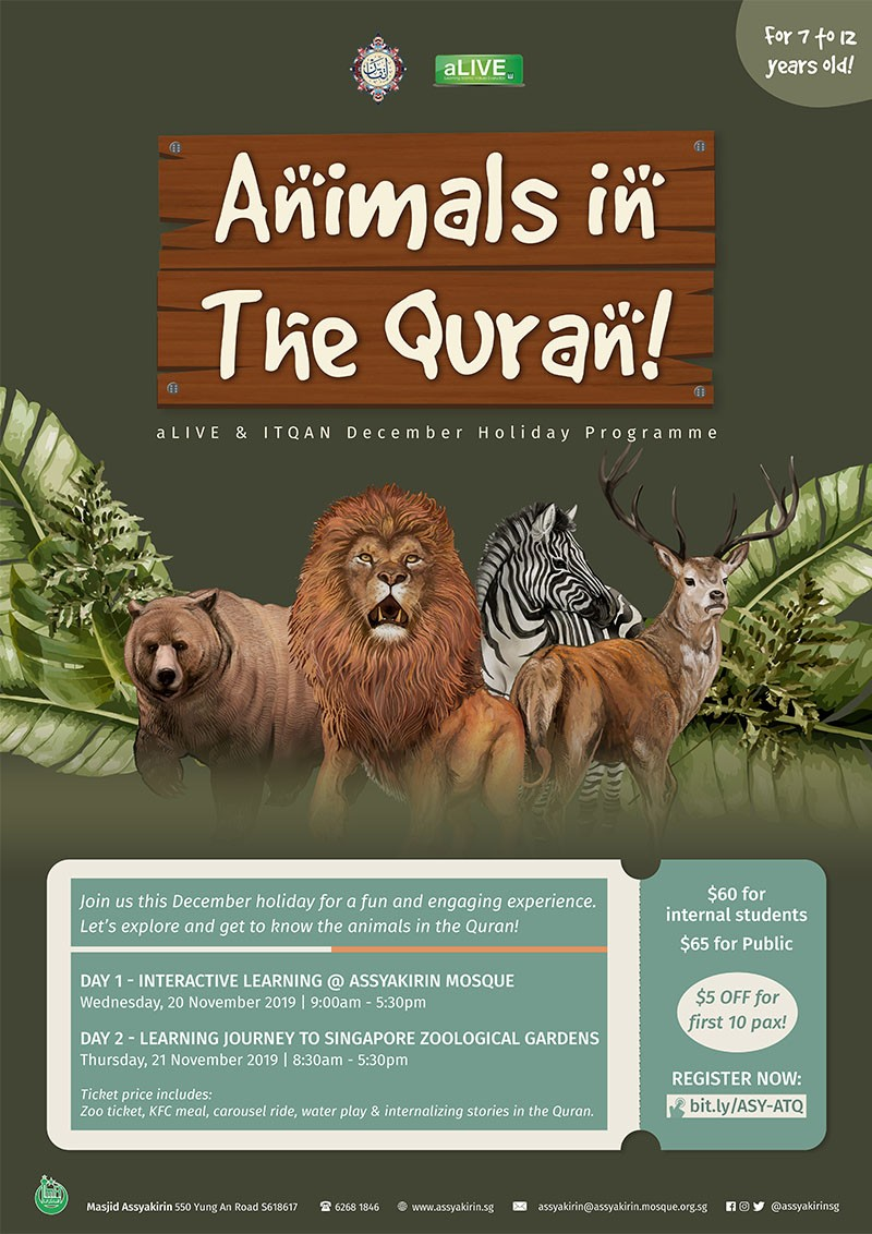 December Holiday Programme: Animals in The Quran! (7-12 years old)