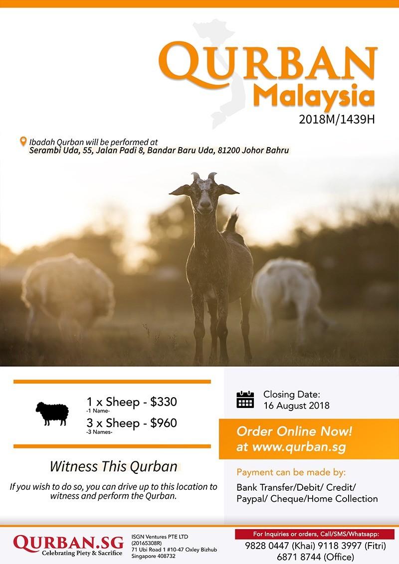 Qurban Malaysia 1439H/2018