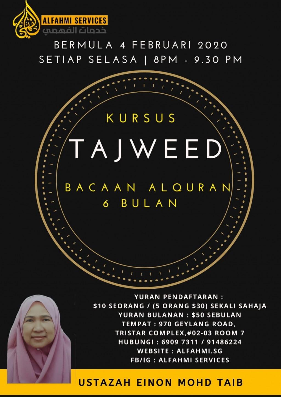 KURSUS TAJWID (Bacaan Al-Quran 6 bulan)