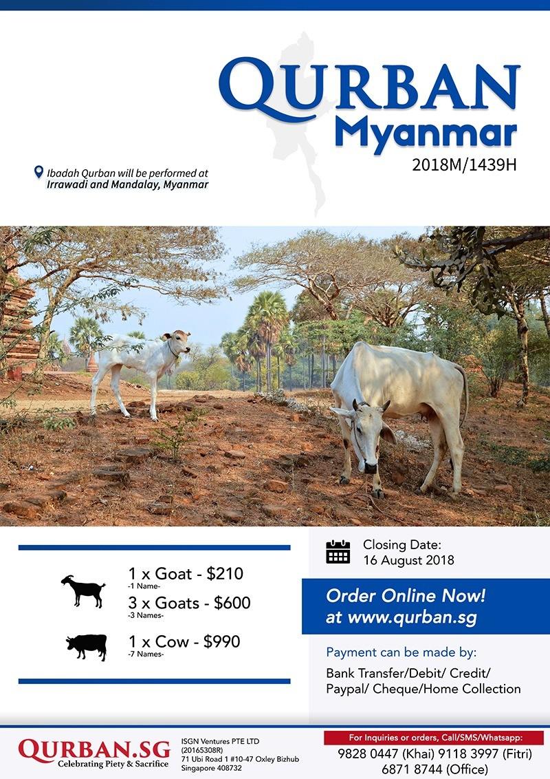 Qurban Myanmar 1439H/2018