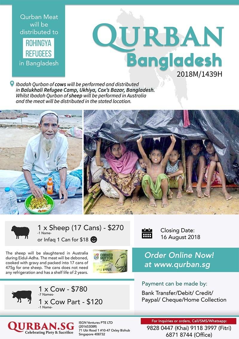 Qurban Bangladesh for Rohingya 1439H/2018
