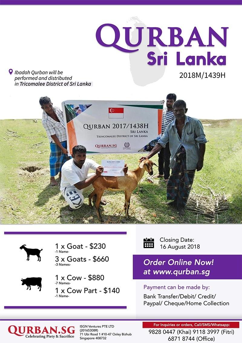 Qurban Sri Lanka 1439H/2018
