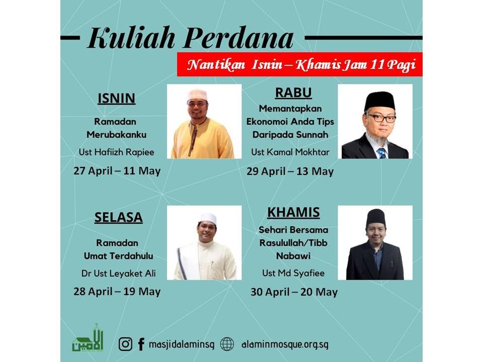 Kuliah Perdana Eksklusif Ramadan