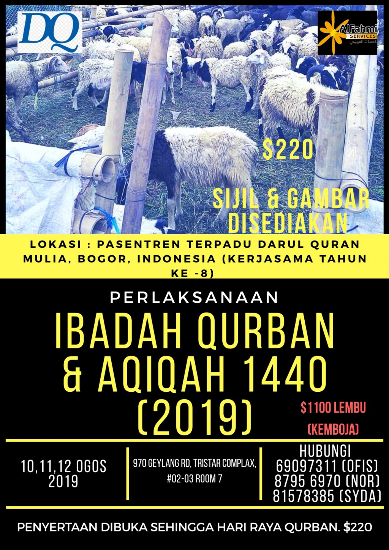 IBADAH QURBAN & AQIQAH 1440 (2019)