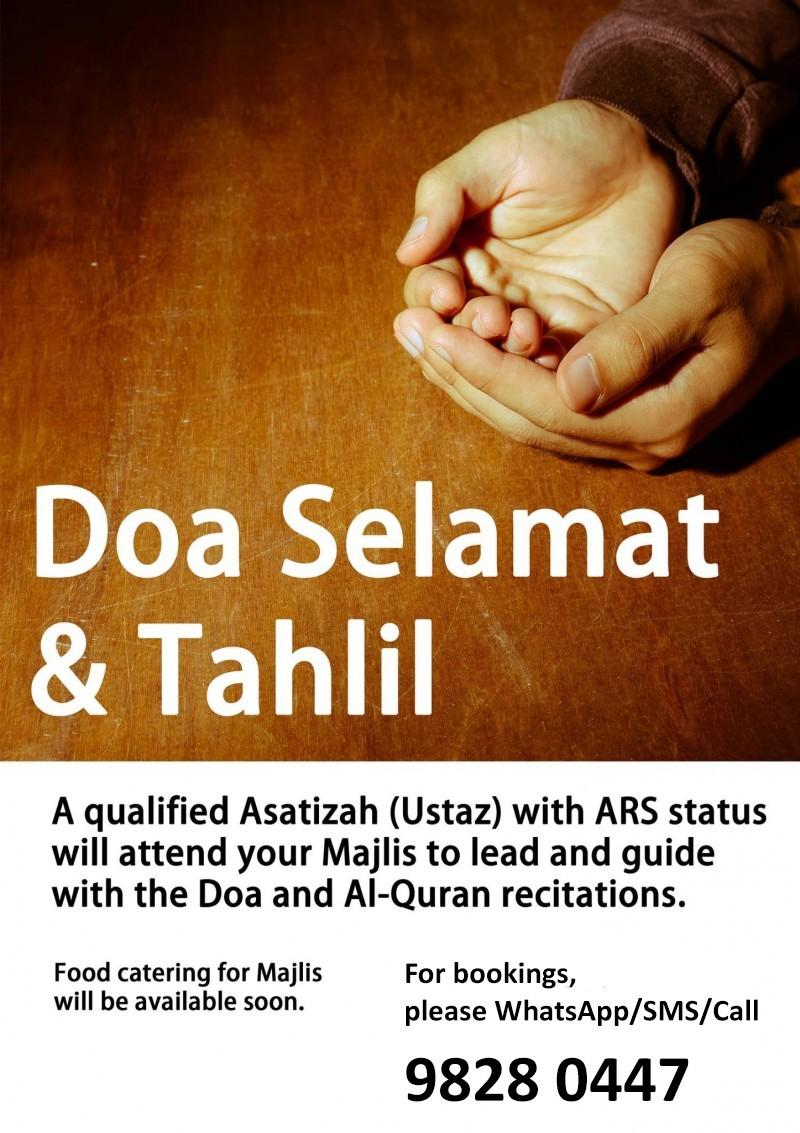 Doa Selamat Tahlil Services Khidmah Islamicevents Sg