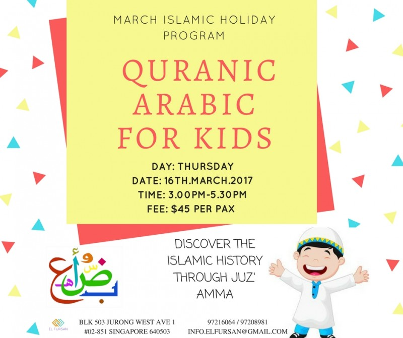 QURANIC ARABIC FOR KIDS - Event - IslamicEvents SG