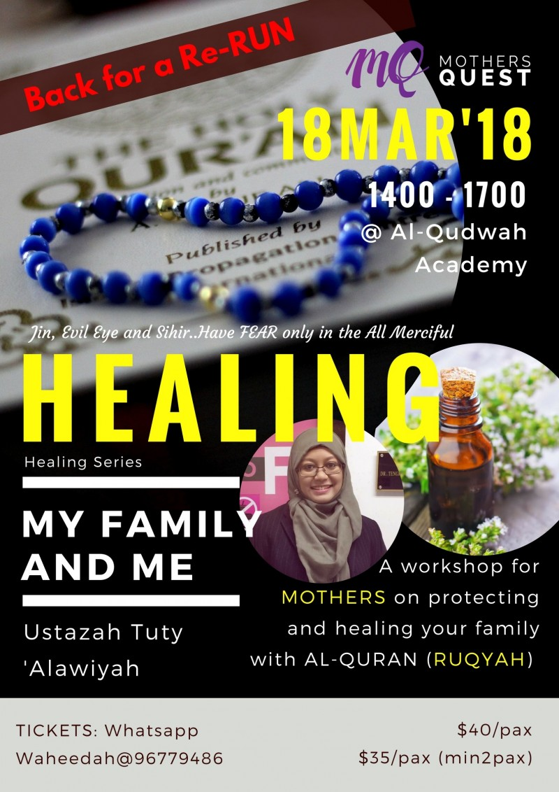 Healing My Family and Me - Event - IslamicEvents SG