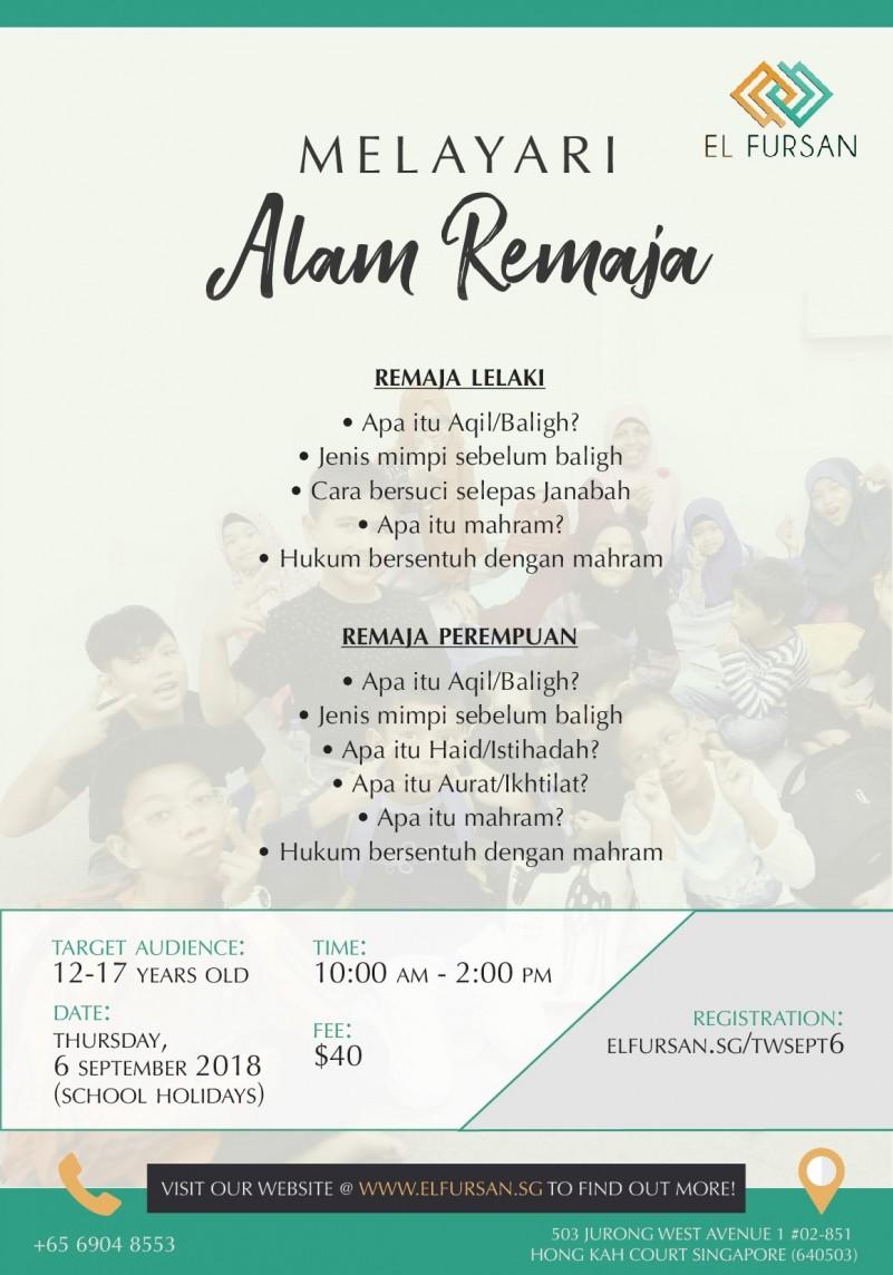 Melayari Alam Remaja - Event - IslamicEvents SG