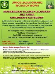 Musabaqah Tilawah AlQuran Juz Amma, Children's Category 8-12