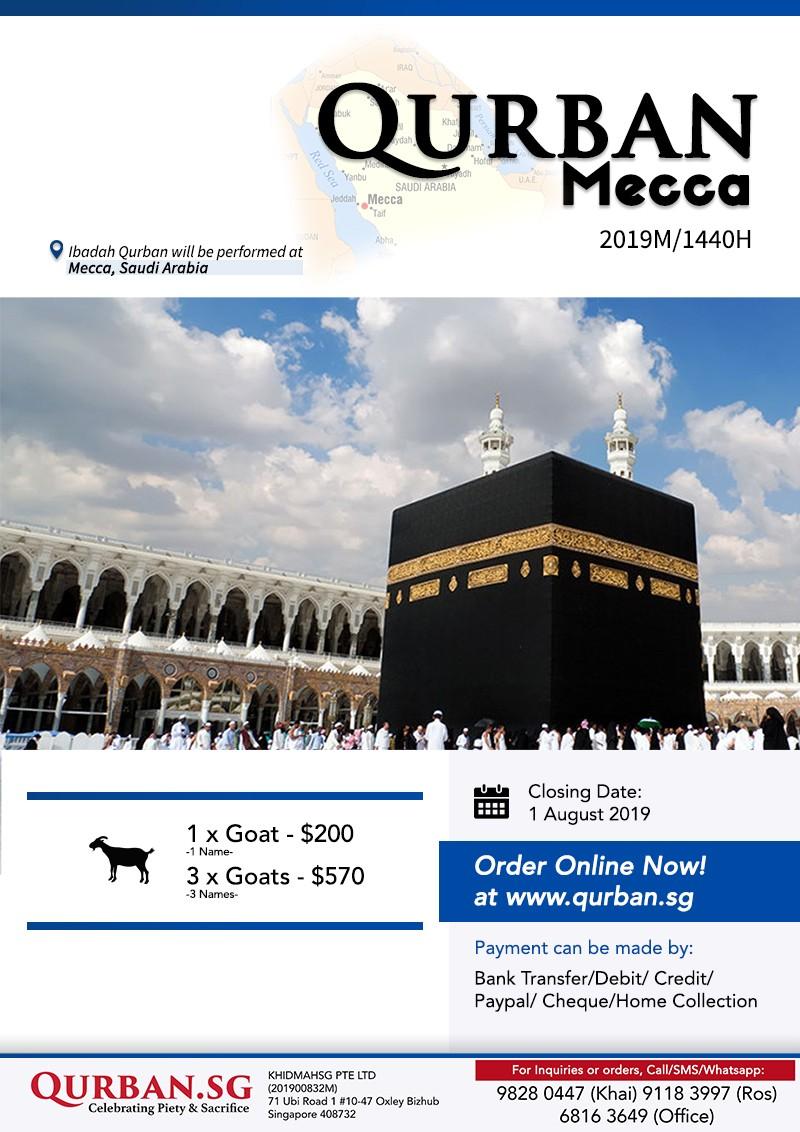 Qurban Mecca 1440H / 2019 - Khidmah - IslamicEvents SG