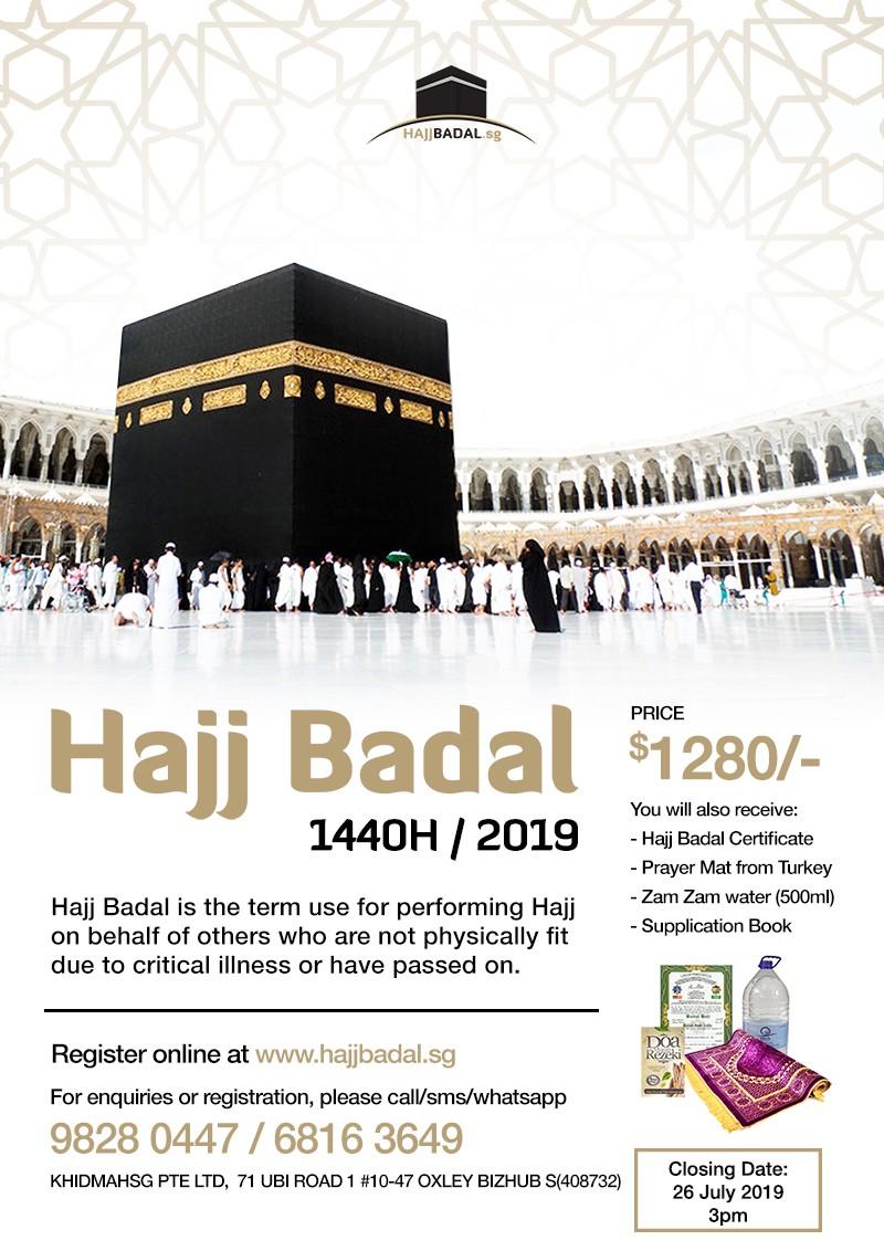Hajj Badal 1440H/2019 - Khidmah - IslamicEvents SG