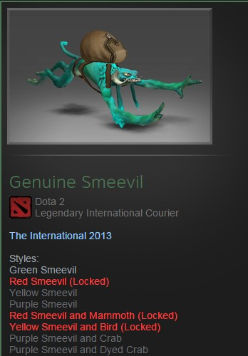 Courier Smeevil 4 Styles Unlocked + Ambient Effect
