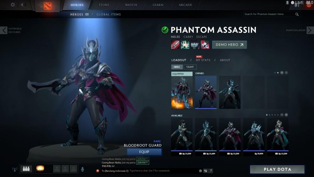 Bloodroot Guard (Phantom Assassin Set)