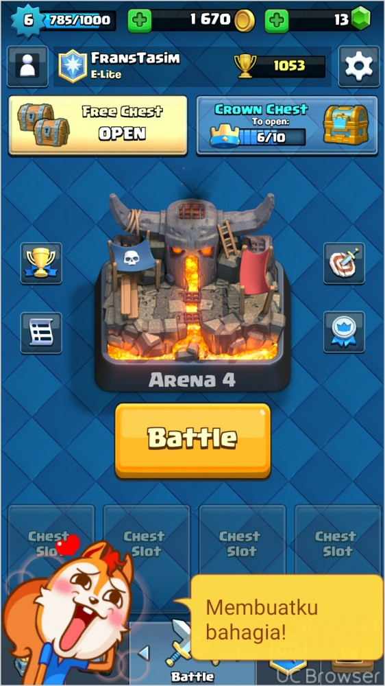 arena 4 level6 epic banyak+coc th8
