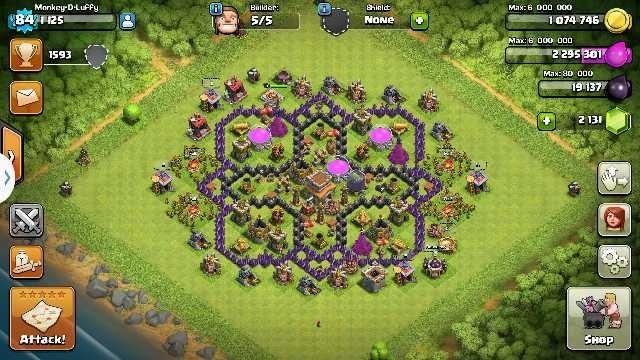 Clash Of Clans Th 8 Semi Max
