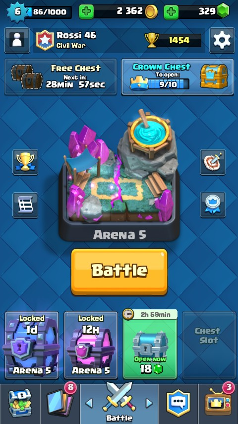 Lvl 6 -  Arena 5 + Bonus Super dan Magical Chest