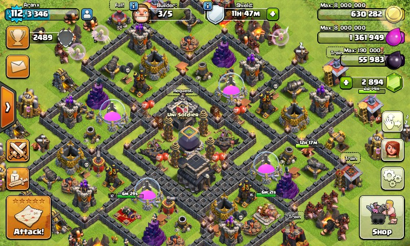 Coc th 9 max bonus cr level 8 arena 7