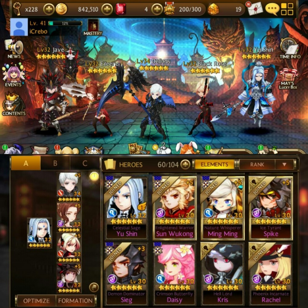 6 Seven Knights | 2 Four Lords Mantap