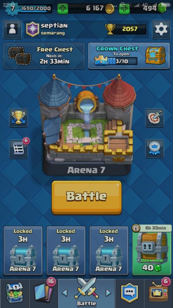 Arena 7 | 12 Epic | 2 legendary
