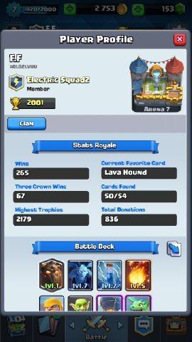 Clash Royal level 7 bisa ganti nama