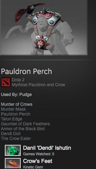 Pauldron Perch (Mythical - Pudge)